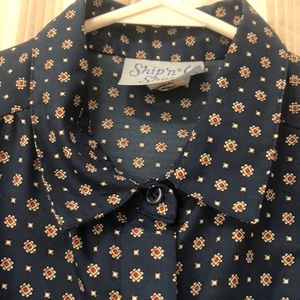 Button down vintage polyester shirt